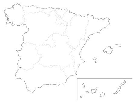 iberian: Simple map of Spain