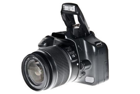 megapixel: Dslr camera isolated on white