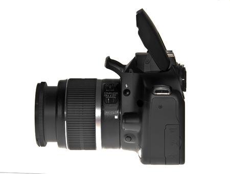 Dslr camera isolated on white photo