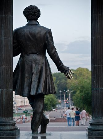 monument of alexander pushkin in the city of Saransk, Russia Stock Photo - 5434034