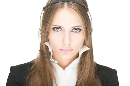Portrait of customer service and call centre operator woman Stock Photo - 17475647