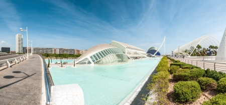 VALENCIA, SPAIN - MAY 13: City of Arts and Sciences. Futuristic city within a city ranks as one of worlds most exciting and imaginative millennium projects. May 13, 2012, Valencia, Spain, Europe.