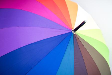 multicolored: Close up view of multicoloured umbrella.
