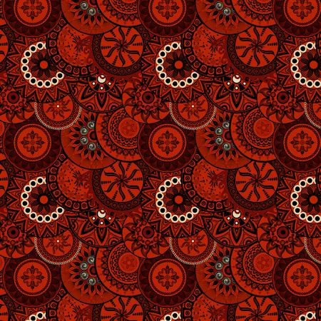 persia: seamless pattern red&black Illustration