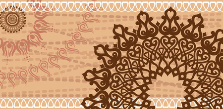indien muster: Patten Postkarte Schokolade Farbe