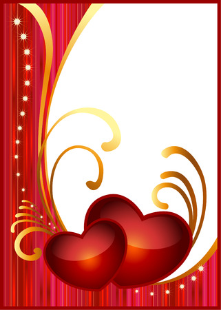 flower font: Card background for Valentines day.