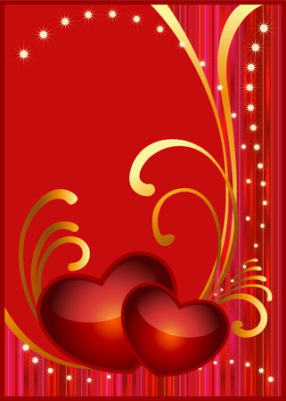 Card background for Valentine's day. Stock Vector - 7852466