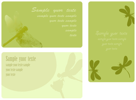 Set of summer cards, place for the text Vector