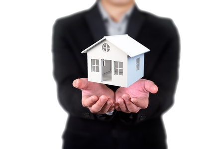 house in human hands, Businessman photo