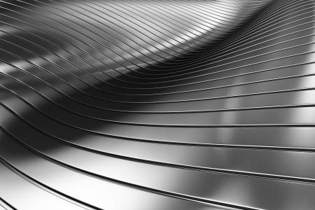 metalico: 3d abstracto de aluminio plateado de metal de fondo ilustración