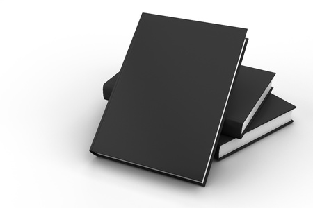 Blank book cover black isolated Stock Photo - 13621146