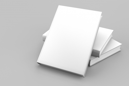 Blank book cover white isolated  Stock Photo - 13621145