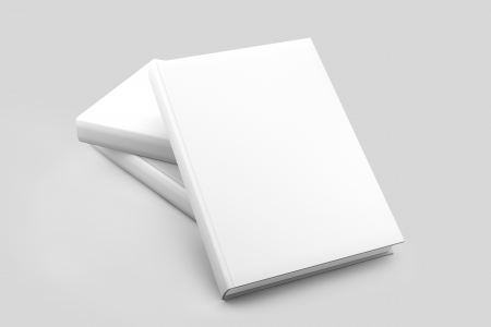 diary cover: Blank book cover white isolated