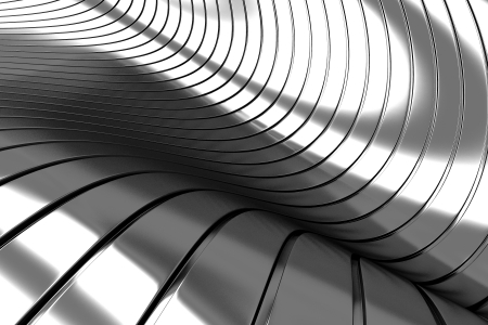 concave: 3d Aluminum abstract silver metal background illustration