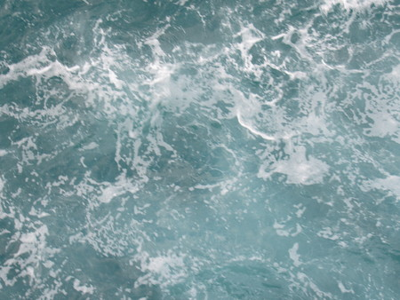 Churning Ocean Water