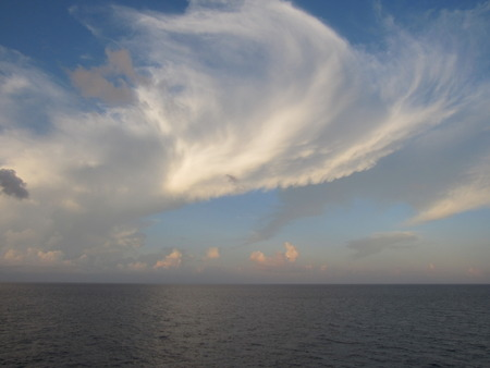 Wispy Clouds Over the Atlantic