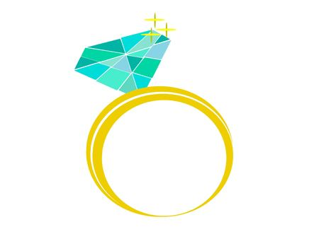 Beautiful love icon of golden wedding ring or wedding in vector