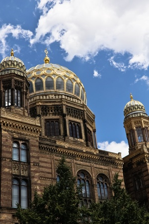synagogues: One of the few remaining synagogues in Berlin, Germany Stock Photo