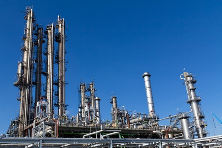 petrochemical plant: A site of an currently inactive refinery close to Vienna