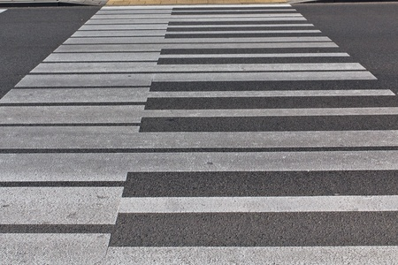 A crosswalk in Warsaw similar to a piano photo