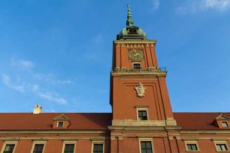 The famous royal castle in Warsaw from rather close photo