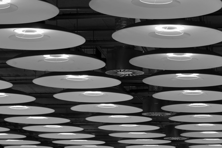 Modern lamps at the Airport Barajas in Madrid Stock Photo - 11420185