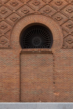 A detail auf Madrid's bullfight arena with its arabick background photo