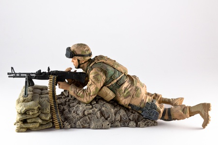 A profile of an american machine gunners action figure photo
