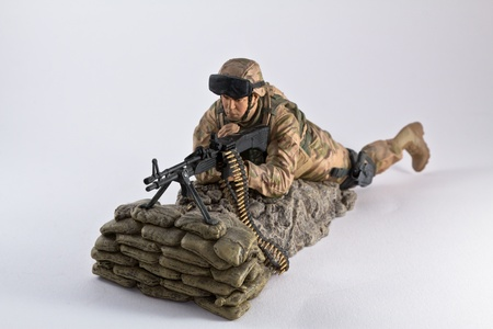 An action figure of an american  machine gunner photo