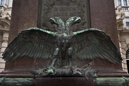 double headed eagle: A majestic double headed eagle monument for Austrias monarchy Stock Photo