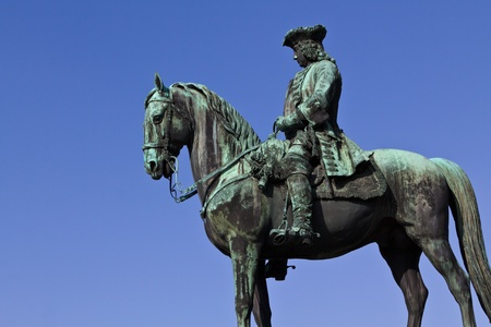 empress: An equestrian next to the landmark for Maria Theresian, Austrians famous empress