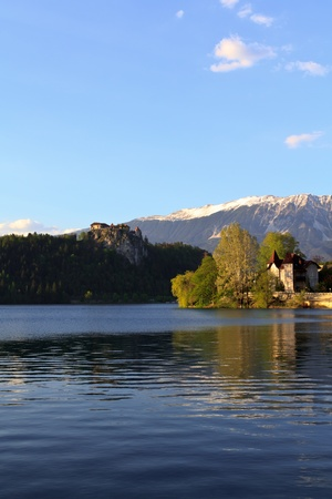 A view on the lake of Bled, Slovenia Stock Photo - 13515013