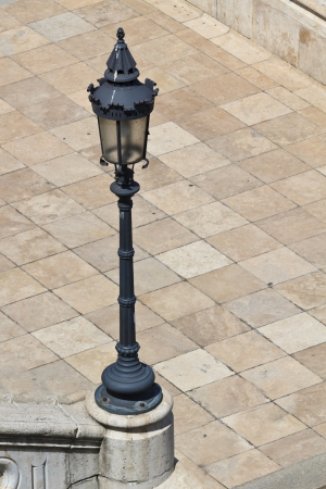 A lamp post in an antique setting in Budapest photo