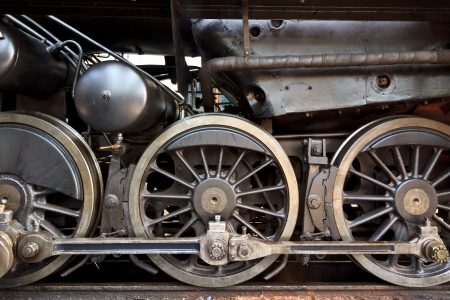 An old steam locomotive in a garage in Austria photo