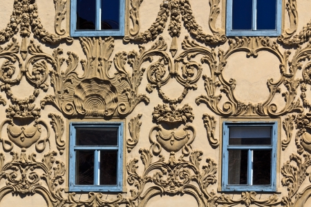 An ornate facade on the main square of Graz, Styria, Austria Фото со стока - 13991228