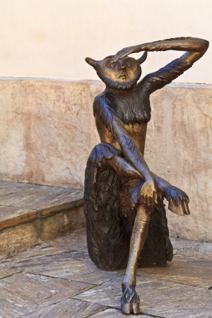 A devilish creature in a public courtyard in Graz, Styria