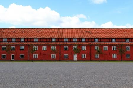 Former red prison in the center of Copenhagen (kastellet)