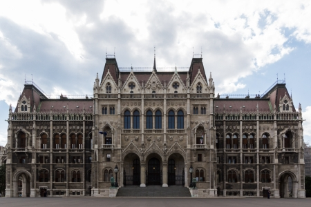 parliamentarian: The back side of the hungarian parliament in Budapest, Hungary