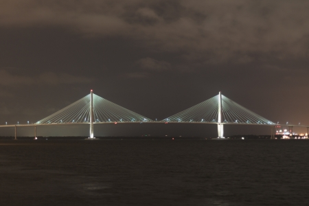 The famous Charleston bridge at night photo