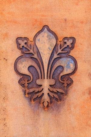 fleur: The fleur de lis of Florence, local symbol of Florence, Italy