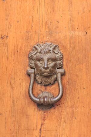 doorknocker: Entry door knob Stock Photo
