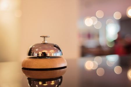 reception room: A service bell in a hotel