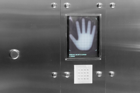 A biometric security scanner for handprints photo