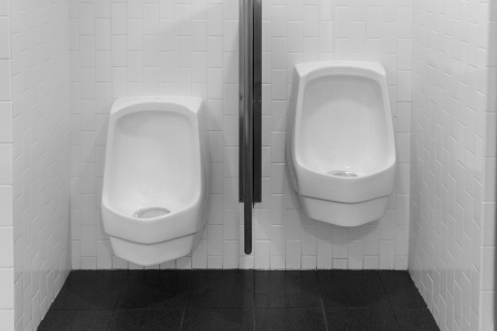 Two orinals for little and big men or kids photo
