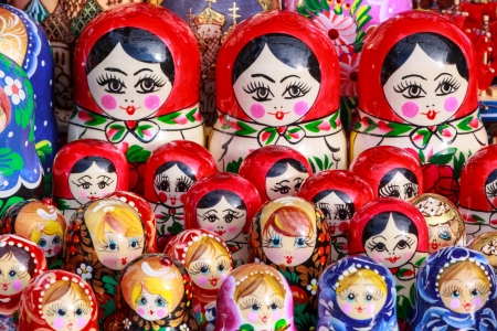 Typical russian colorful dolls