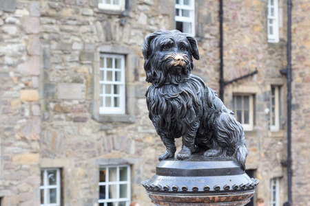 Sculpture of Greyfriars Bobby, a Skye Terrier who in the 19th century guarded the grave of his owner for 14 years