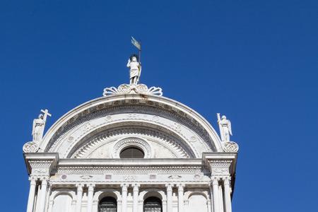 segmento: Segmento superior de la iglesia de San Zaccaria en Venecia, Italia