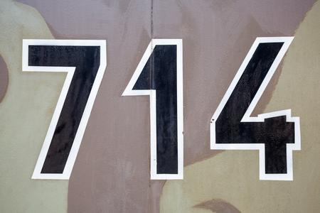ww2: Three german ww2 black military digits on camouflage