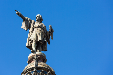 christopher: Statue of Christopher Columbus on the colon in Barcelona, Spain Stock Photo