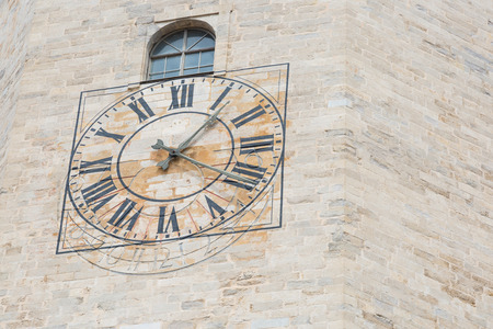sun dial: A clock on the tower of Girona cathedral is also a sun dial